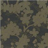 Little Greene Oriental Wallpaper Camellia Charcoal (144)