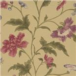 Little Greene Oriental Wallpaper China Rose Olive (136)