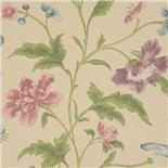 Little Greene Oriental Wallpaper China Rose Sage (135)