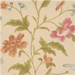Little Greene Oriental Wallpaper China Rose Soft Lime (138)
