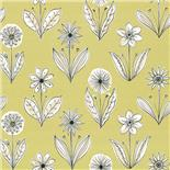 Little Greene 1950s Wallpaper Florette Acid Drop (168)