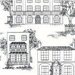 Little Greene 1950s Wallpaper Hampstead Ink (158)