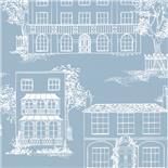 Little Greene 1950s Wallpaper Hampstead James Blue (162)