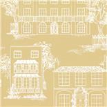 Little Greene 1950s Wallpaper Hampstead Yellow Apple (161)
