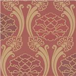 Little Greene Oriental Wallpaper Peony Cherry (154)