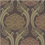 Little Greene Oriental Wallpaper Peony Espresso (157)