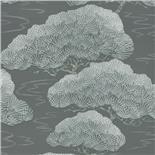 Little Greene Oriental Wallpaper Pines Silver Pine (131) - Archiefkleur