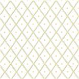 Little Greene 1950s Wallpaper Quilt Petiole (188) - Archiefkleur