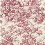 Little Greene Revolution Papers Stag Toile Burgundy (264)