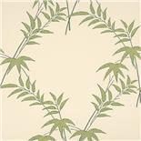 Little Greene Oriental Wallpaper Trellis Bamboo Spring (128)